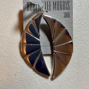 Robert Lee Morris Clips Crescent Clip-On Earrings